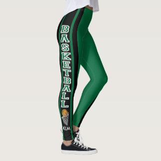 Monogram Basketball Dark Green Leggings