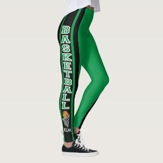 Monogram Basketball Green Leggings