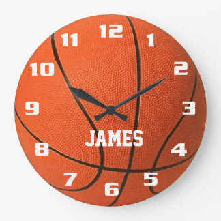 Monogram Basketball Large Clock