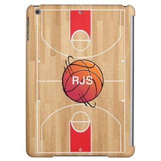 Monogram Basketball on basketball court Cover For iPad Air
