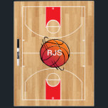 "Monogram Basketball on basketball court Dry Erase Board<br><div class=""desc"">Monogram Basketball on basketball court</div>"