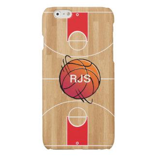 Monogram Basketball on basketball court Glossy iPhone 6 Case