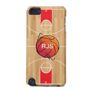 Monogram Basketball on basketball court iPod Touch 5G Cover