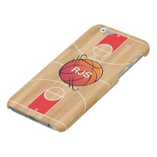 Monogram Basketball on basketball court Matte iPhone 6 Case