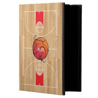 Monogram Basketball on basketball court Powis iPad Air 2 Case
