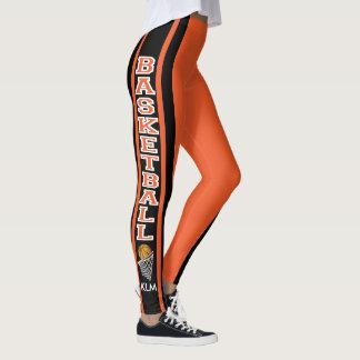 Monogram Basketball Orange Leggings