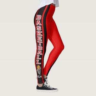 Monogram Basketball Red Leggings