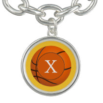 Monogram Basketball Sports Pattern Bracelets