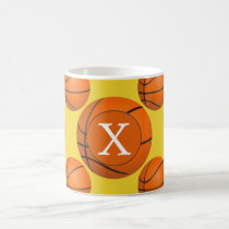 Monogram Basketball Sports Pattern Coffee Mug