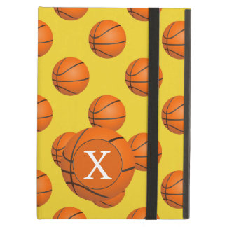 Monogram Basketball Sports Pattern Cover For iPad Air