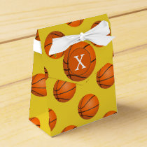 Monogram Basketball Sports Pattern Favor Box