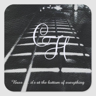 Monogram Bass Guitar Sticker