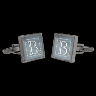 Monogram Beach / Surf Gunmetal Finish Cufflinks