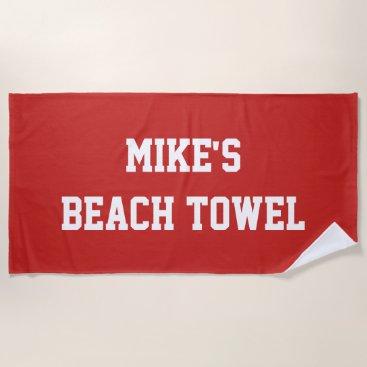 Beach Themed Monogram Beach Towel