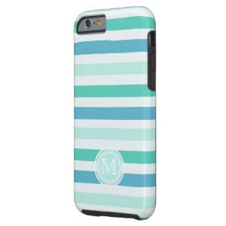 Monogram: Beachy Stripes Case Tough iPhone 6 Case
