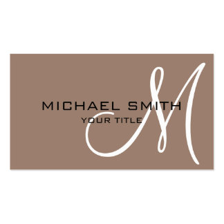 Monogram Beaver color background Double-Sided Standard Business Cards (Pack Of 100)