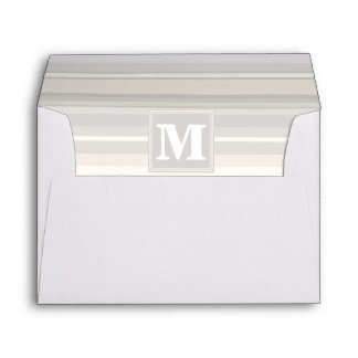 Monogram beige stripes envelope