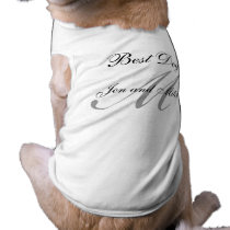 Monogram Best Dog Wedding Shirt Grey and White
