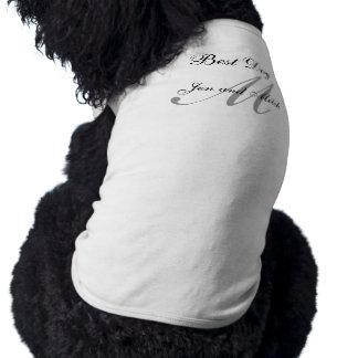 Monogram Best Dog Wedding Shirt Grey and White Dog Clothing