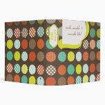 Monogram binders,polka dots/DIY backgroud