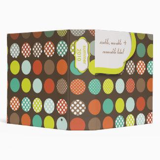 Monogram binders,polka dots/DIY backgroud Binder