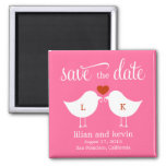 Monogram Birds Save The Date Magnet Fridge Magnet