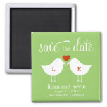 Monogram Birds Save The Date Magnet Fridge Magnets
