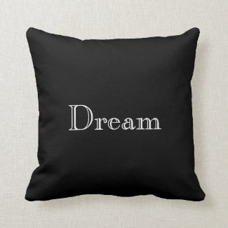 Monogram Black Accent Pillow