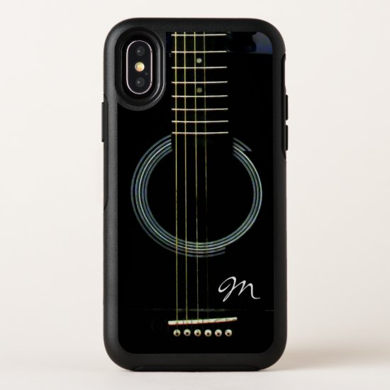 Monogram Black Acoustic Guitar Otterbox Case