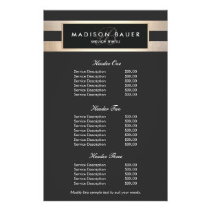 Price List Flyers Programs Zazzle - Pricing flyer template