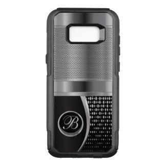 Monogram Black and Silver Metallic Mesh OtterBox Commuter Samsung Galaxy S8+ Case
