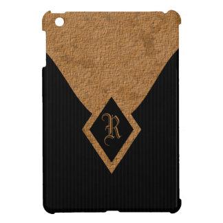 Monogram Black and Tan Elegant iPad Mini Cases