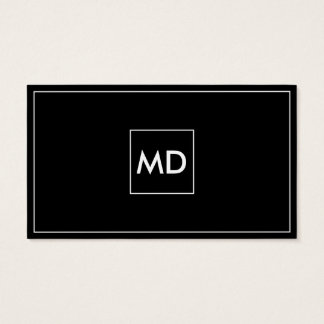 Monogram Black And White Business Cards