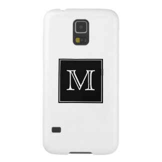 Monogram Black and White Case For Galaxy S5