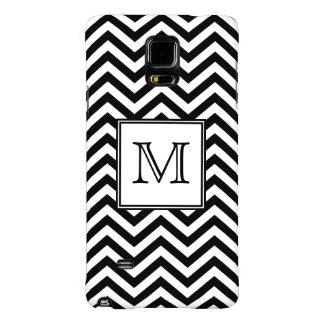 Monogram Black and White Chevron Galaxy Note 4 Case