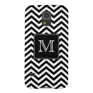 Monogram Black and White Chevron Galaxy S5 Case
