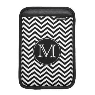 Monogram Black and White Chevron iPad Mini Sleeve