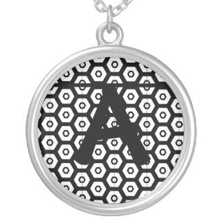 Monogram Black and White Customizable Necklace