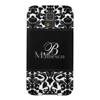 Monogram Black and White Damask Samsung Nexus Galaxy S5 Covers