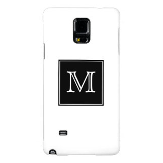 Monogram Black and White Galaxy Note 4 Case