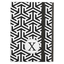 monogram black and white geometrical pattern iPad air case