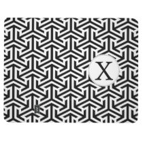 monogram black and white geometrical pattern journal