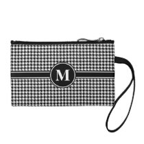 Monogram Black and White Houndstooth Coin Purse