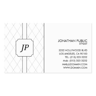 Monogram Black and White Pattern Business Card