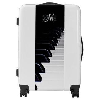 Monogram Black and White Piano Music Suitcase Bag