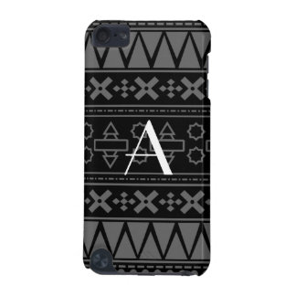 Monogram black aztec pattern iPod touch (5th generation) covers