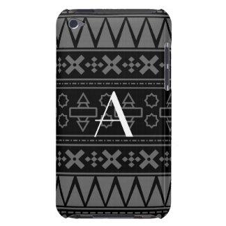Monogram black aztec pattern iPod touch case