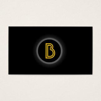 Monogram Black Dot Dark Business Card
