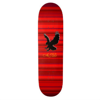 Monogram, Black Eagle logo on red chrome-effect Skateboard Deck