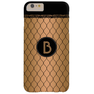 Monogram Black Fishnet Lace Tan Skin Tone Barely There iPhone 6 Plus Case